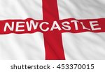 english flag with newcastle... | Shutterstock . vector #453370015