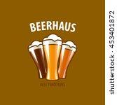 vector beer logo | Shutterstock .eps vector #453401872