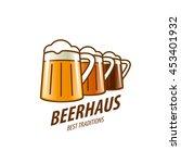 vector beer logo | Shutterstock .eps vector #453401932