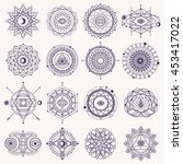 set of sacred geometry forms... | Shutterstock .eps vector #453417022