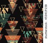 tribal ethnic seamless pattern... | Shutterstock .eps vector #453419158