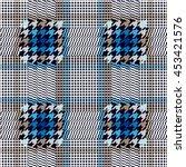 seamless checkered woolen...   Shutterstock .eps vector #453421576