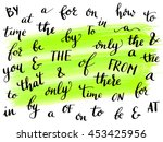 collection of hand drawn... | Shutterstock .eps vector #453425956