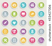 electronics icons on color... | Shutterstock .eps vector #453427306