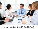 business people having meeting... | Shutterstock . vector #453440362