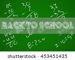 back to school on above science ... | Shutterstock .eps vector #453451435