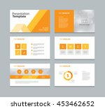 page layout design template for ... | Shutterstock .eps vector #453462652