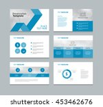 page layout design template for ... | Shutterstock .eps vector #453462676
