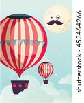 hot air balloon vector... | Shutterstock .eps vector #453464266