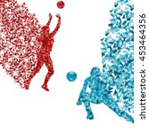 volleyball player woman... | Shutterstock .eps vector #453464356