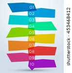 abstract colourful shapes with... | Shutterstock .eps vector #453468412