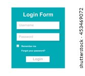 the simple gray login form. web ...