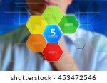 "5 steps template. ""5 steps""... | Shutterstock . vector #453472546"