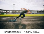 sprinter leaving starting... | Shutterstock . vector #453474862