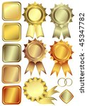 set gold  silver and bronze... | Shutterstock .eps vector #45347782