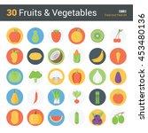 30 fruits   vegetables  food...   Shutterstock .eps vector #453480136