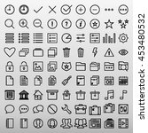 general icons set vector... | Shutterstock .eps vector #453480532
