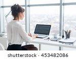 young businesswoman working in... | Shutterstock . vector #453482086