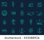 summer  travel  pirate icons set | Shutterstock .eps vector #453488926