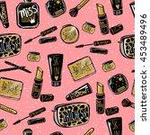 vector cosmetics seamless... | Shutterstock .eps vector #453489496