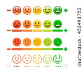 feedback emoticon bar. feedback ... | Shutterstock .eps vector #453491752
