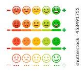 feedback emoticon bar. feedback ... | Shutterstock .eps vector #453491752