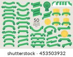 set of 50 vector ribbons. flat... | Shutterstock .eps vector #453503932