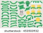 set of 50 vector ribbons. flat... | Shutterstock .eps vector #453503932