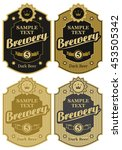 set of vector labels for beer... | Shutterstock .eps vector #453505342