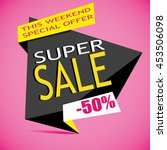 sale banner template. 50  off.... | Shutterstock .eps vector #453506098