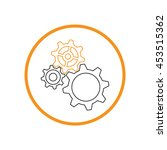 cogwheel  icon setting and... | Shutterstock .eps vector #453515362