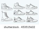 8 cool shoes  sneakers  vector  ... | Shutterstock .eps vector #453515632