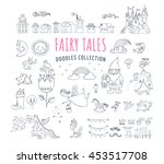 collection of fairy tales hand... | Shutterstock .eps vector #453517708