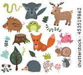 forest animals vector set of... | Shutterstock .eps vector #453519862