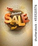 vector autumn sale poster... | Shutterstock .eps vector #453520576