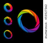 shutter  aperture color and... | Shutterstock .eps vector #453527362
