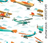 seamless pattern from vector... | Shutterstock .eps vector #453537145