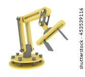 industrial robotic mechanical... | Shutterstock . vector #453539116