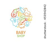 vector logo template of baby... | Shutterstock .eps vector #453542842