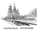 russia. saint petersburg.savior ...   Shutterstock .eps vector #453543388