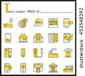 travel element line icon set 12....