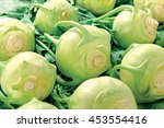 Green Kohlrabi On White...