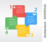 four steps cycle infographic...   Shutterstock .eps vector #453559162