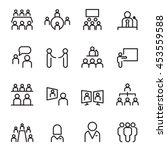 meeting   conference icon set ... | Shutterstock .eps vector #453559588