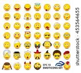 big emoticons set. nationalities | Shutterstock .eps vector #453564655