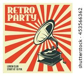 retro party advertising with... | Shutterstock .eps vector #453566362