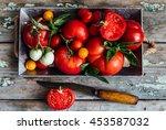 fresh tomatoes. toning | Shutterstock . vector #453587032
