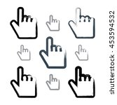 set of point hand gestures...