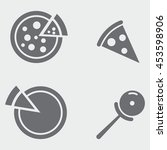 pizza icons | Shutterstock .eps vector #453598906