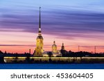 peter and paul fortress in... | Shutterstock . vector #453604405
